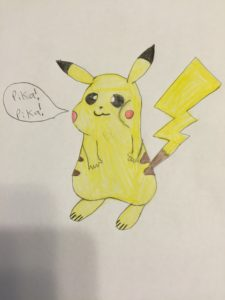 Tommy's rendering of Pikachu